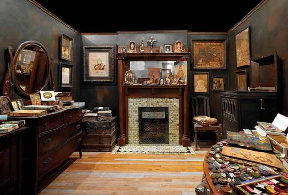 The Henry Darger Room at the INTUIT Museum in Chicago
