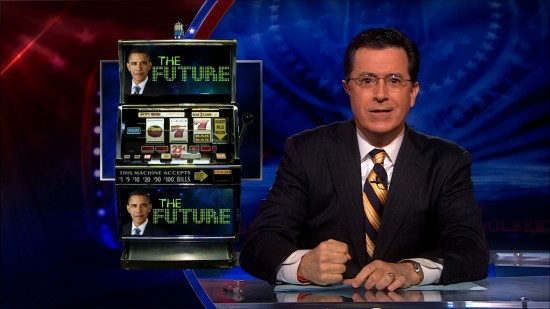 "Stephen Colbert on Pres. Obama's 2011 slogan, ""Win the Future"""